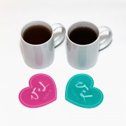 Valentines Monogram Heart Coaster